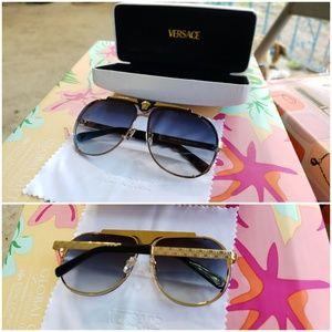 Versace aviator style sunglasses.  Authentic